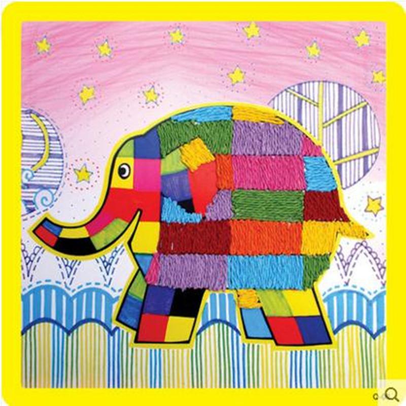 纸绳画 儿童手工制作材料 幼儿园粘贴画 绳子艺术玩具