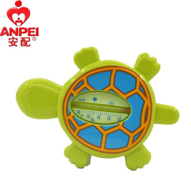 安配ap1316婴儿洗澡 水温计 宝宝沐浴 可爱卡通乌龟形状温度计 两用