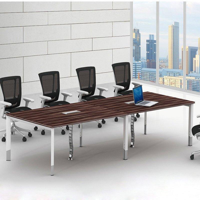优发办公家具 板式会议桌 钢木会议台 读书馆木质条形阅览桌 员工培训