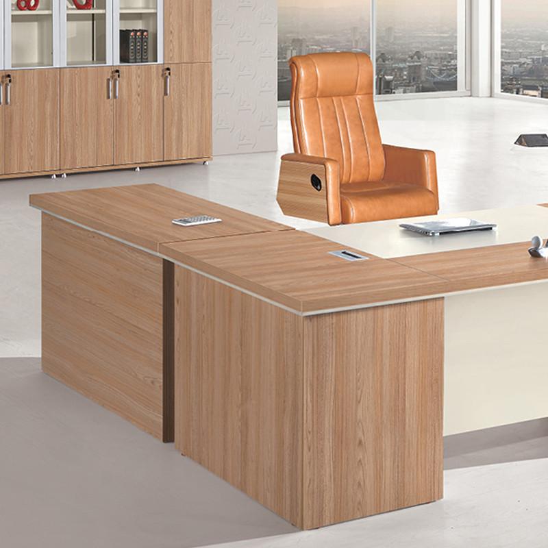 优发办公家具 简约现代板式老板桌简易经理台/主管办公桌//财务桌工作图片
