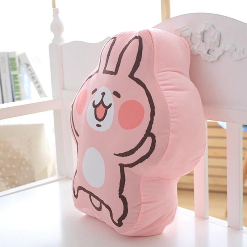 2016卡娜赫拉小动物可爱萌兔纸抱枕靠垫兔子毛绒玩具玩偶