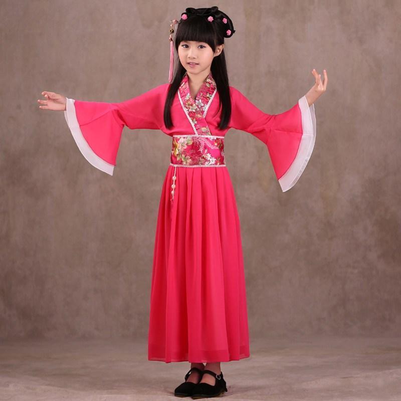 儿童古装 仙女装儿童汉服女童演出服表演服公主贵妃 儿童节演出服