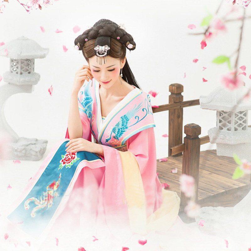 古装服装复古古代唐朝服装贵妃装女公主古典舞蹈服装武媚娘皇后女