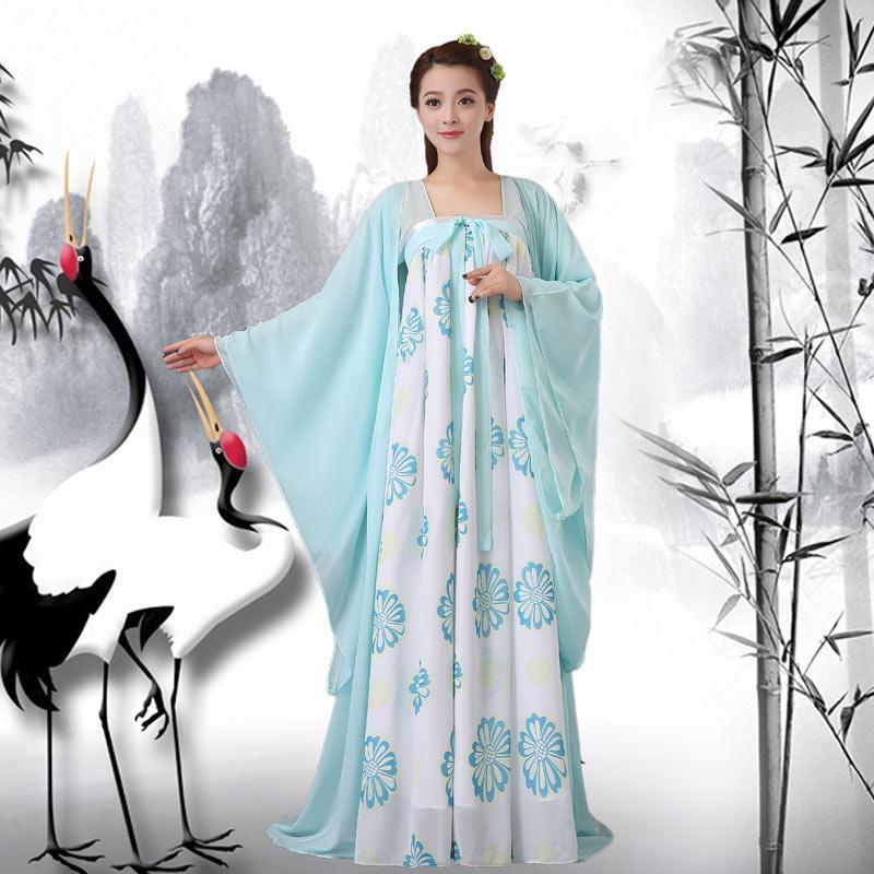 古装服装公主贵妃汉服女装襦裙雪纺古典舞蹈服仙女