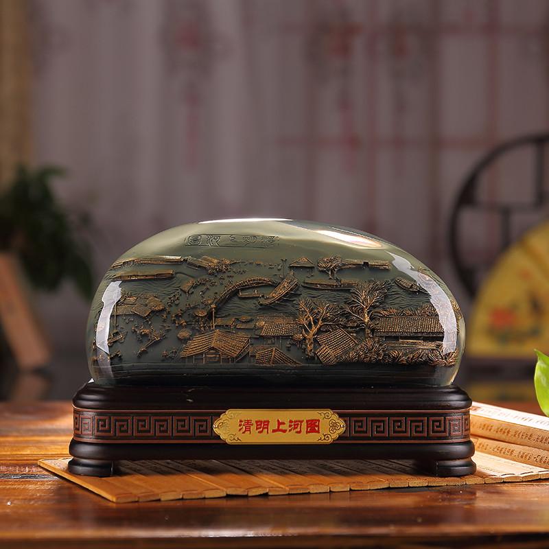 工艺品家居装饰品公司清明上河图办公室摆件商务礼品纪念品帝佛山市家具顺德区锋摆设图片