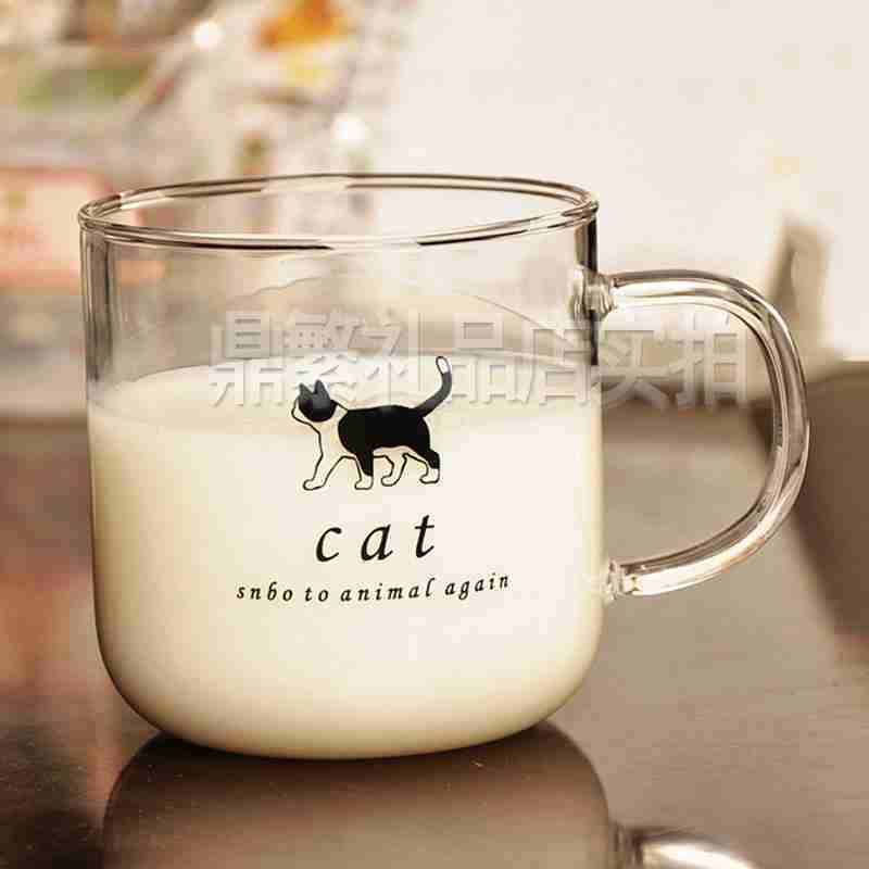 工艺品手工耐热玻璃杯可爱动物茶杯牛奶杯果汁杯咖啡杯送闺蜜送朋友