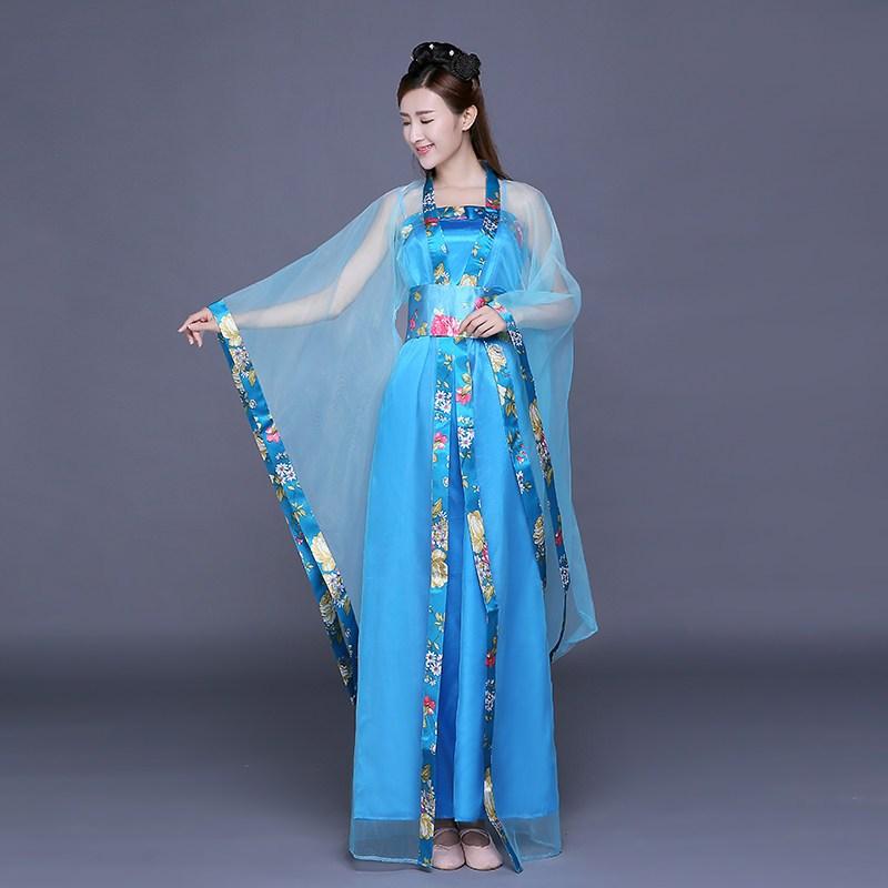 唐凤古装服装仙女舞蹈演出服影楼写真服古代唐朝贵妃公主古筝长裙图片