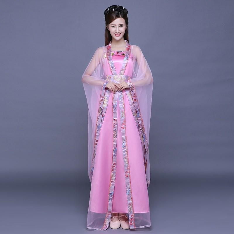 唐凤古装服装仙女舞蹈演出服影楼写真服古代唐朝贵妃公主古筝长裙