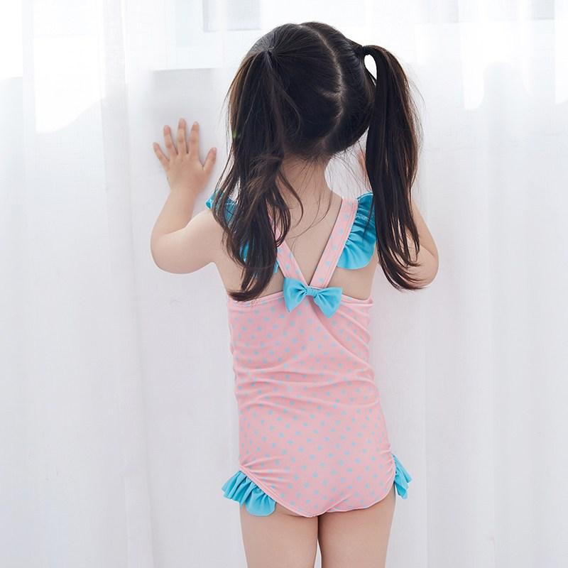 儿童连体泳衣女孩宝宝女童公主可爱游泳装小猪卡通连体泳衣