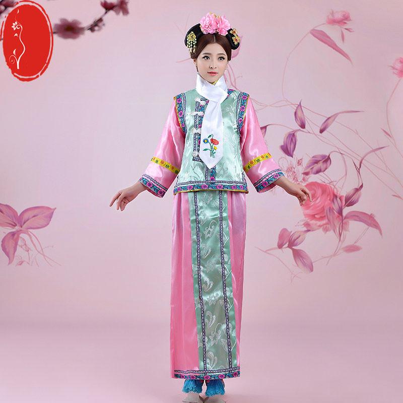 清朝古装女格格服宫女妃子满族旗装民族表演出舞蹈台服装