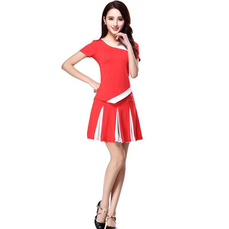 广场舞服装套装新款夏运动中老年舞蹈演出衣服上衣短袖裙装图片