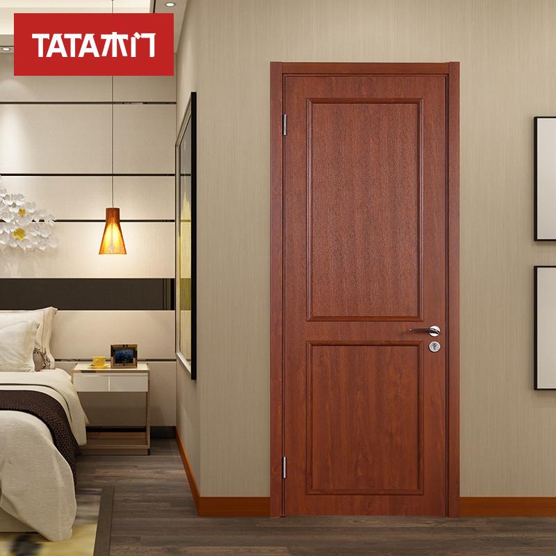 tata木门 现代简约室内门套装门 实木复合卧室门免漆定制木门 @009