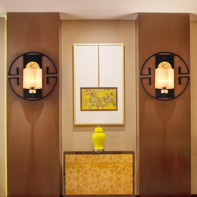 现代新中式壁灯 仿古创意客厅酒店卧室床头壁灯 走廊楼梯灯具led灯饰