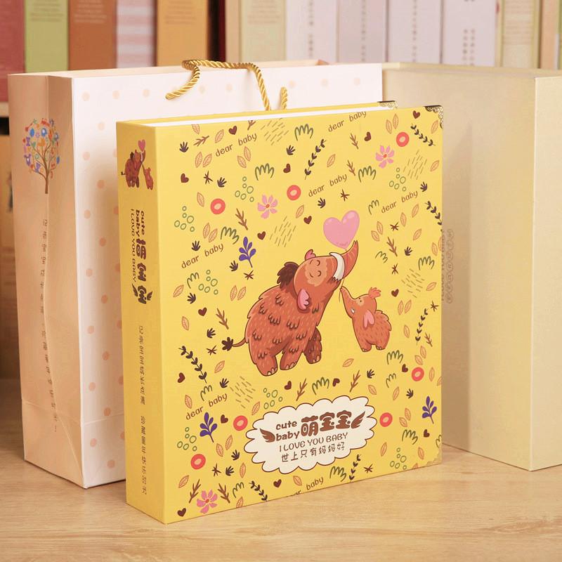宝贝日记本照片本 新生婴幼儿出生档案 diy创意影集相片册