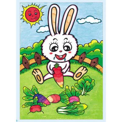 上中下 基础教程教材 幼儿园3-8岁画画书 线描涂色涂鸦彩笔画