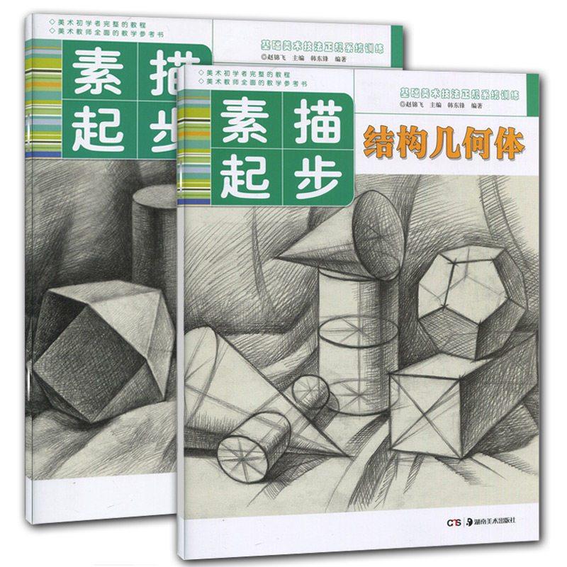 全2册 素描起步系列 素描结构几何体.