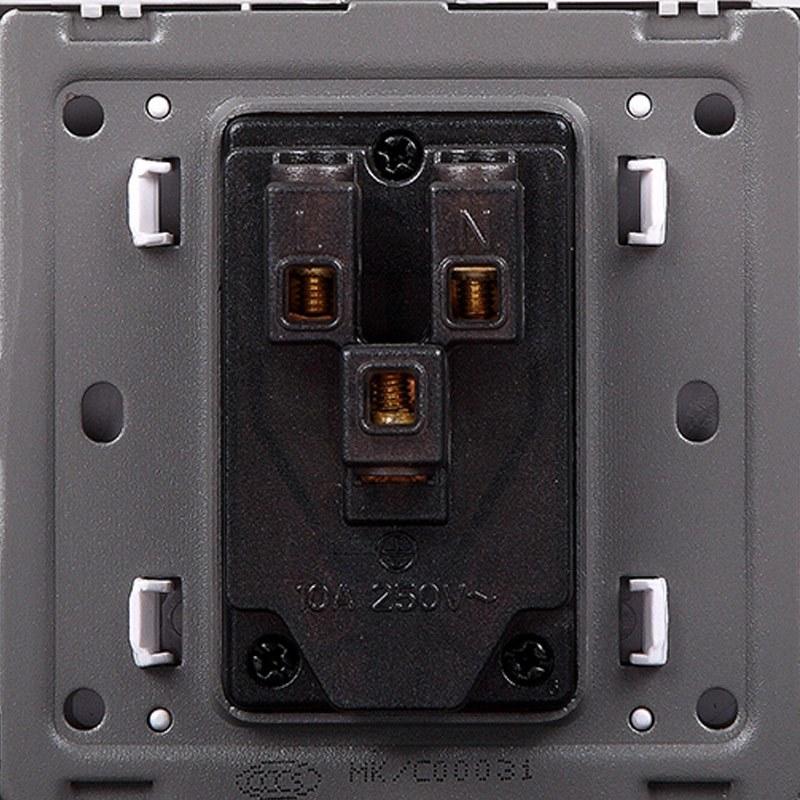 曼科开关插座五孔插座二三插座86型电源开关插座面板