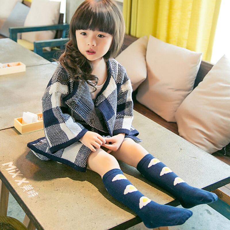 儿童袜子棉品童袜韩国可爱煎鸡蛋荷包蛋棉中筒袜32tc676