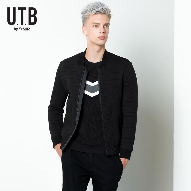 森马utb2016秋季新款男装棒球领针织复合空气层夹克韩版潮