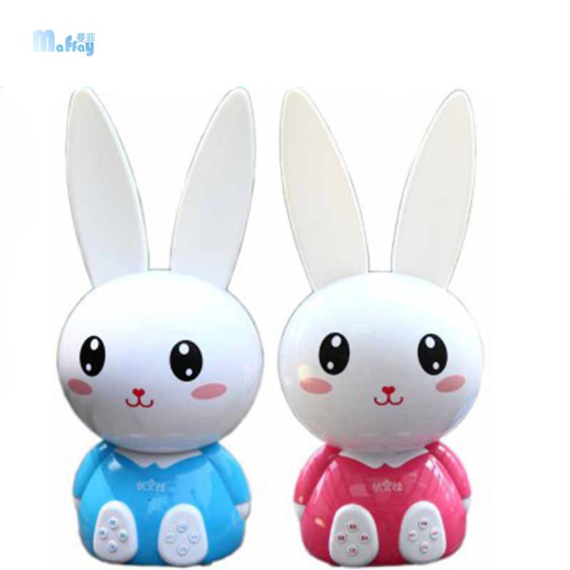 儿童讲故事机早教机婴儿小白兔子宝宝智能mp3可充电下载音乐玩具