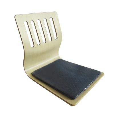 日式無腿椅榻榻米木質椅一次成型彎曲木質懶人椅坐墊塔塔米無腿靠背椅