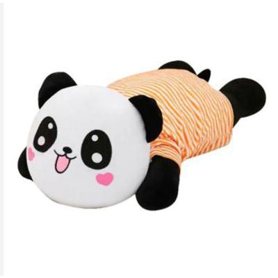 趴趴熊猫凉席学生睡枕可爱儿童节礼物 音乐款 礼袋 凉席 白熊蓝衣服