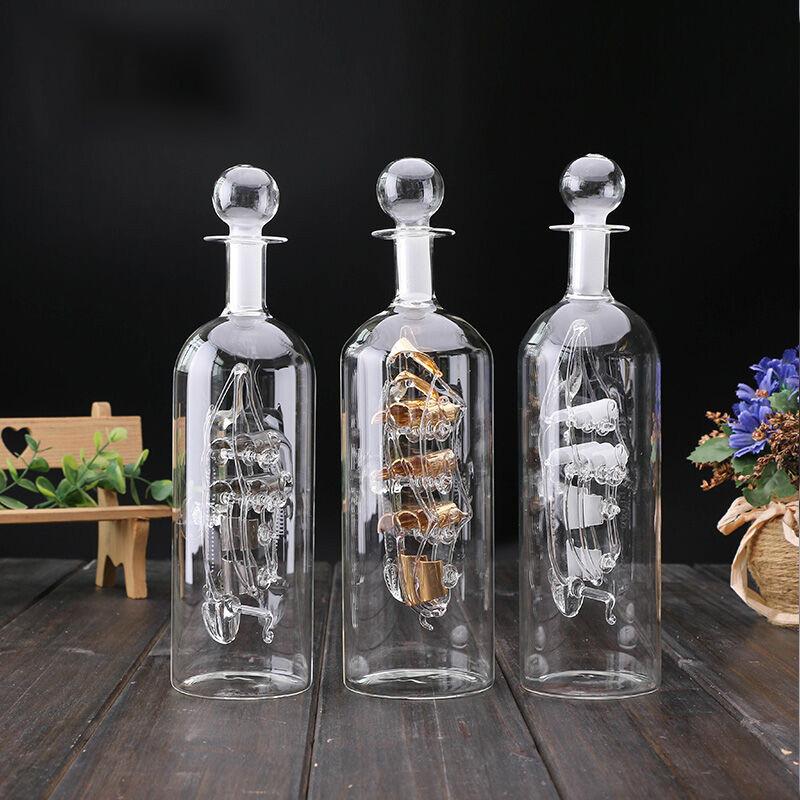 中船模型创意家居装饰品 工艺摆件 一帆风顺摆件玻璃帆船 许愿漂流瓶图片