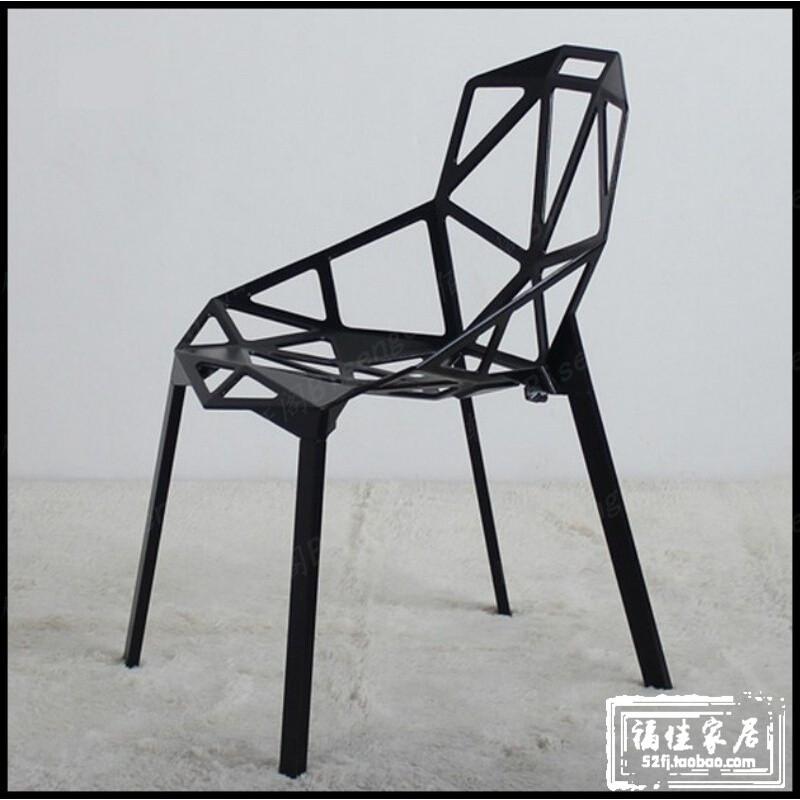 吧台椅现代简约时尚创意个性几何高椅子铁艺变形金刚酒吧椅高脚凳