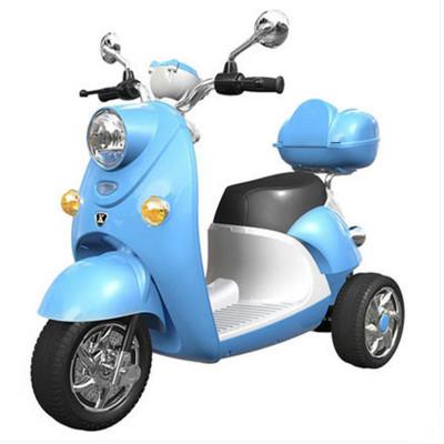 奇客303電動童車2-7歲兒童電動摩托車早教功能三輪車雙驅電瓶車男女寶寶玩具車可坐人警車承重大于50公斤高碳鋼環保pvc