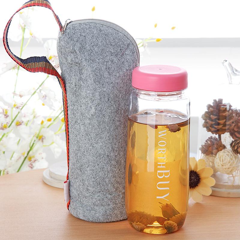 创意便携水杯塑料杯子韩版随手杯水瓶可爱学生儿童太空杯随行茶杯