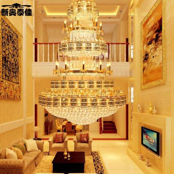 新奥泰佳复式楼大吊灯楼中楼客厅水晶大吊灯别墅酒店