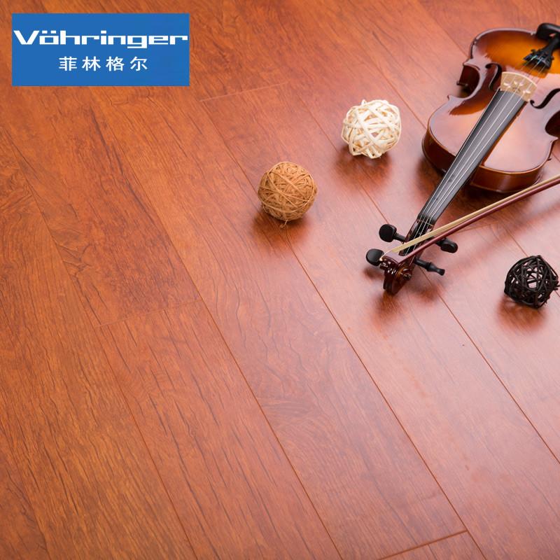 菲林格尔 特价德国橡木木地板高密度纤维板强化复合地板h-260