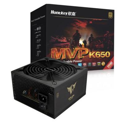 航嘉(Huntkey)額定650W K650電源(游戲專用/80PLUS金牌/單路54A/半模組/14CM大風扇/LLC