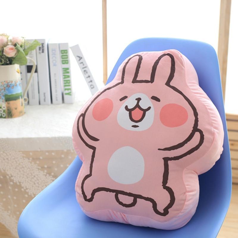 吟秀 卡娜赫拉小动物可爱萌兔纸抱枕靠垫兔子毛绒玩具