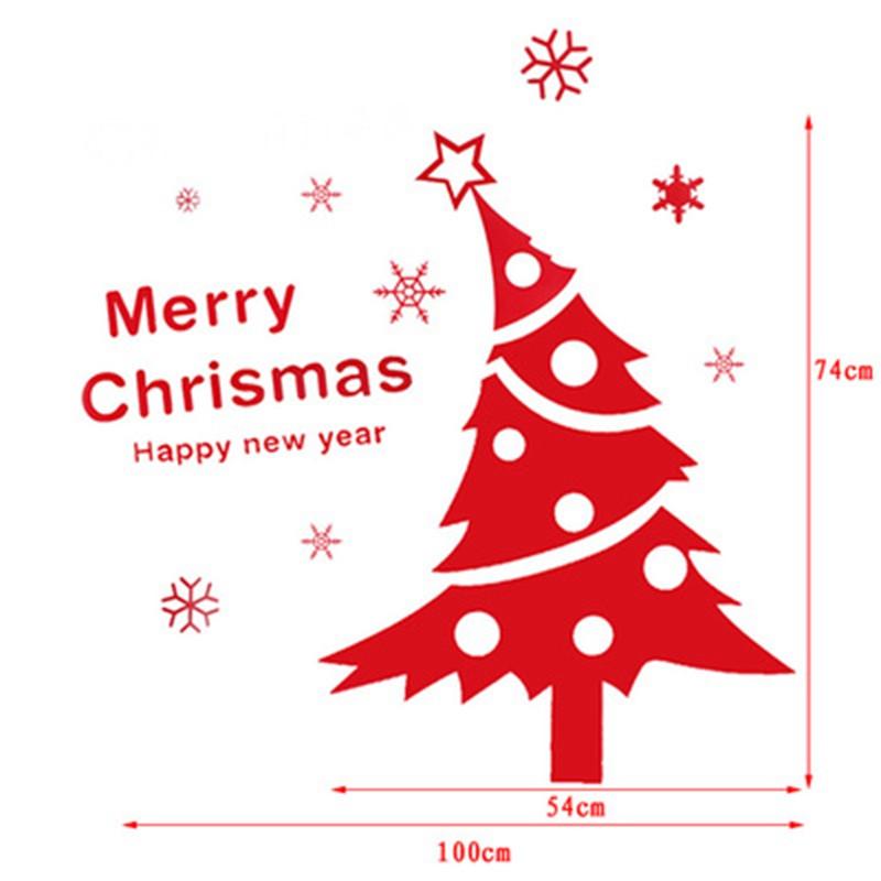 吟秀 元旦圣诞节鹿卡通雪花雪人 大型橱窗 商场装饰墙贴玻璃贴纸