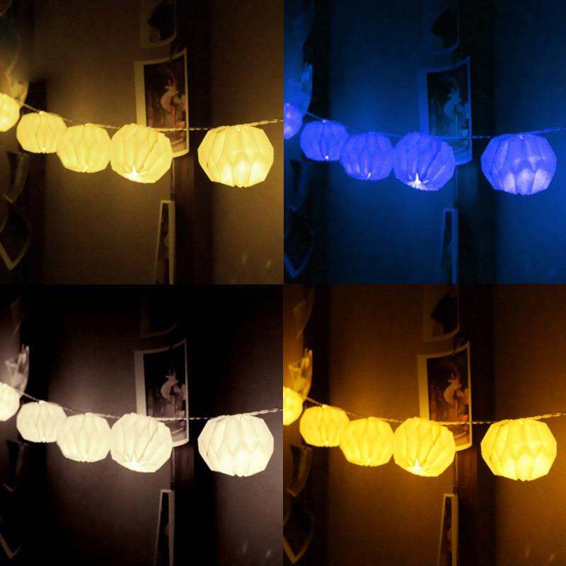 室内节日圣诞纸灯笼装饰灯 led彩灯闪灯串灯