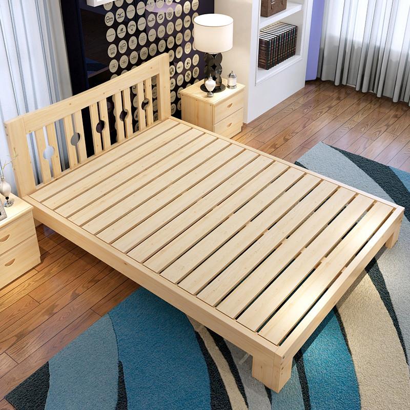 8米 单人床 儿童床 硬板床 实木成人床 松木床 简易床 木床 宜家床 床图片