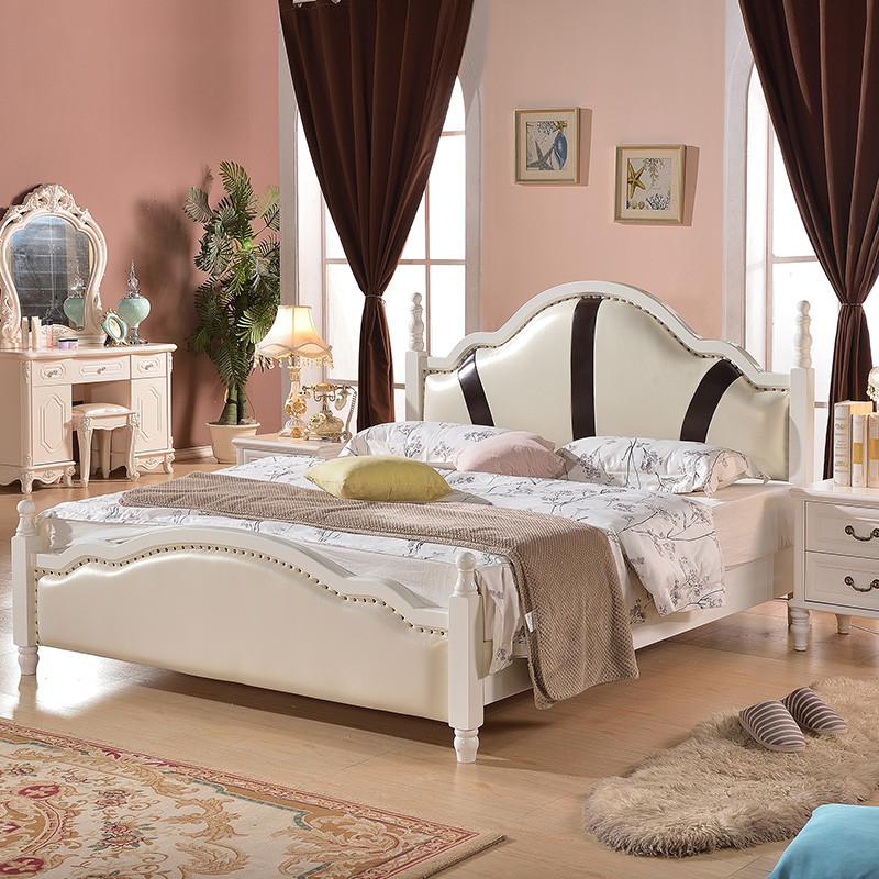 5米双人婚床 欧式白色软包床