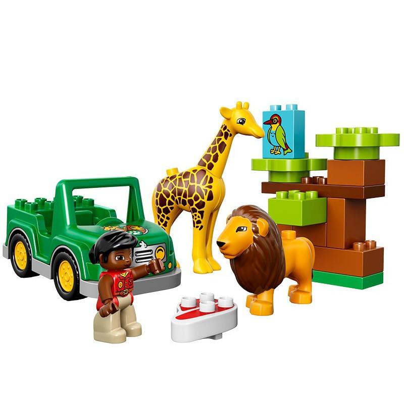 正版乐高lego 得宝大颗粒系列 10802 我的草原动物 积木玩具