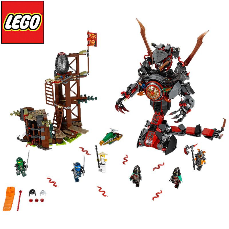 正版乐高lego ninjago幻影忍者系列 70626 决战时光机甲巨蛇 积木玩具