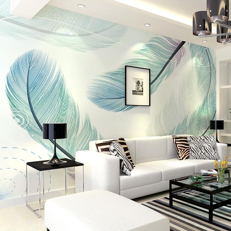 卡茵 现代简约客厅电视背景墙墙纸 卧室定制墙布 沙发创意壁画 床头图片