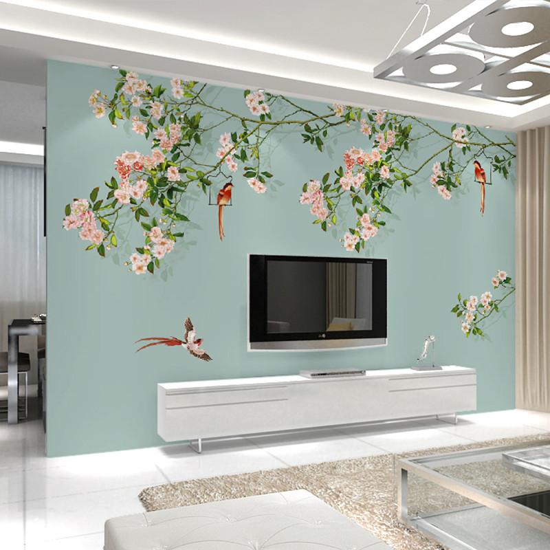 整张无缝客厅电视背景墙墙纸壁画 卧室墙布 影视墙壁布