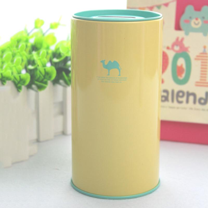 糖果色储蓄罐金属存钱桶影子动物可爱卡通影子动物存钱罐礼品罐-松鼠
