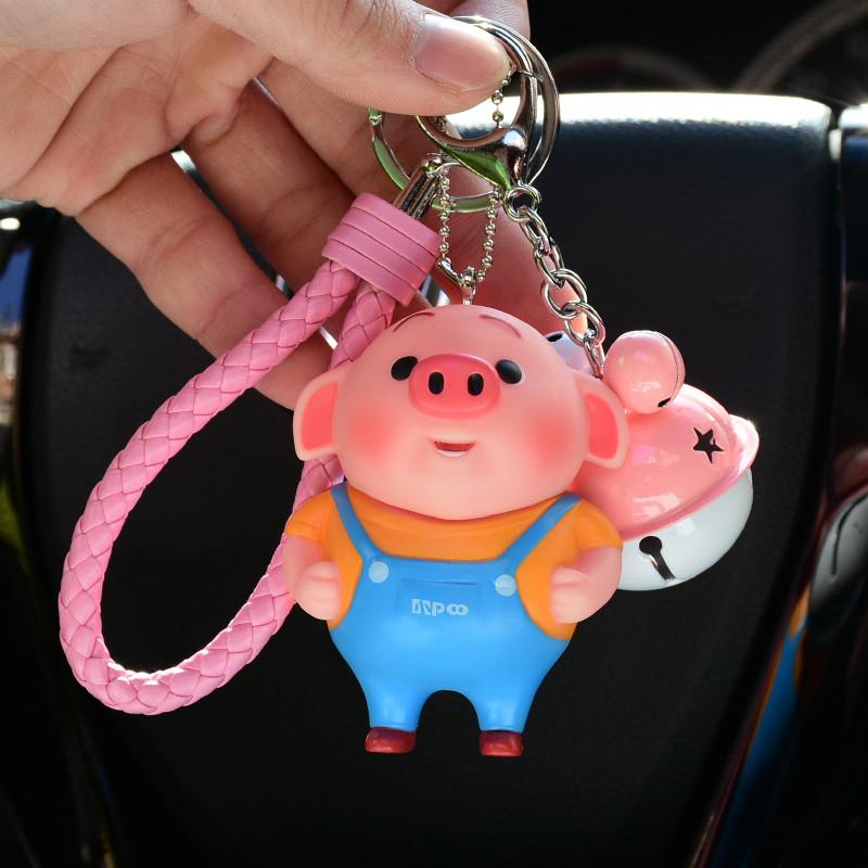 铃铛挂件钥匙链孙悟空女士卡通可爱创意猪八戒汽车包包钥匙扣挂件-