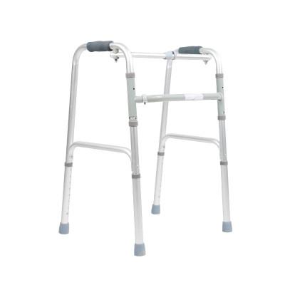 可孚四腳拐杖老人拐杖殘疾人助步器 鋁合金可伸縮四腳拐杖 老人拐棍KFZX610帶腳輪帶坐浴板 Cofoe