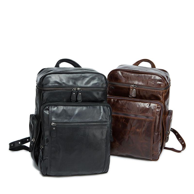 marrant男包双肩包 新款韩版电脑包男士真皮背包 大容量旅行包