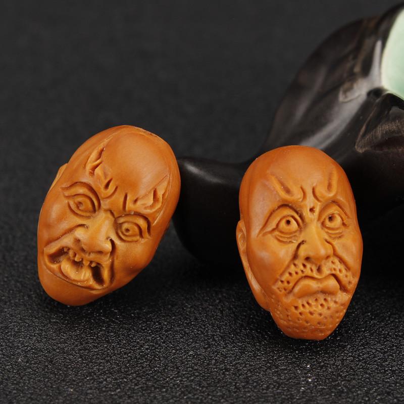 安乐因 天然橄榄核手工雕刻十八罗汉橄榄核雕刻文玩男女木制手串手链