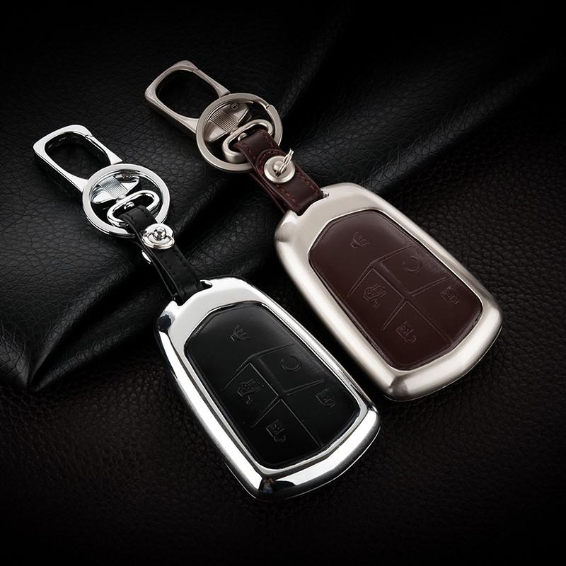 曼迪凯迪拉克atsl钥匙包 xts ct6 cts srx xt5汽车用钥匙保护套 真皮