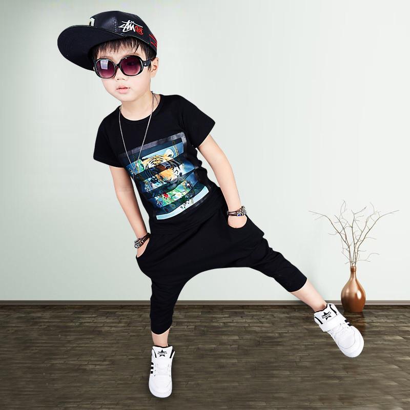 男童套装夏小孩衣服2017儿童短袖童套装夏季韩版男童两件套