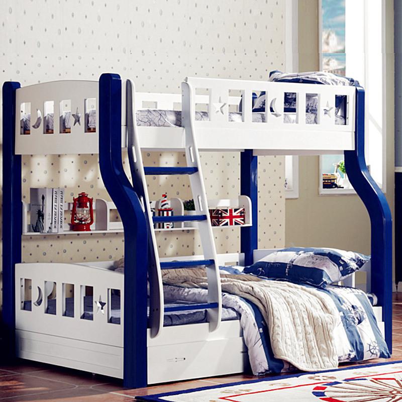 上下居美梦床私人上下床实木双层床别墅铺小孩母子床两层床木床床二层儿童小公主图片